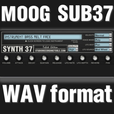 Moog Sub 37 Samples Wav Format Sounds